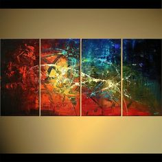Modern abstract paintings on canvas. Starry Night is a hand-painted artwork, created by the artist Osnat Tzadok. An online art gallery of modern paintings - artwork id Colorful Abstract Art, Abstract Images, Art Original, Original Paintings, Modern Art, Contemporary Art, Yellow Wall Art, Art Moderne, Abstract Photography
