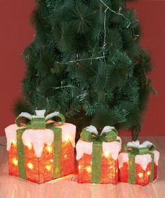 Could this be a DIY? Take a look at this Gift Box LED Light Set by Transpac Imports on #zulily today!
