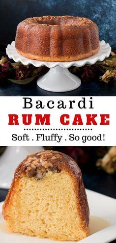 Rum Cake Recipe Easy, Easy Cake Recipes, Sweet Recipes, Baking Recipes, Pillsbury Recipes, Dessert Recipes, Just Desserts, Delicious Desserts, Yummy Food
