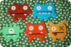 Lullaby & La La: Hama monster invitationer
