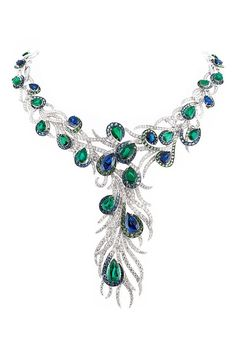 http://rubies.work/0860-ruby-pendant/ ✿ڿڰۣ astonishing! love the colors and the peacock style    #jewelry #peacock
