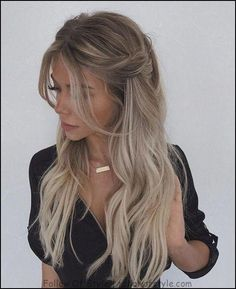 Stylish Prom Hairstyles Half Up Half Down Loose Prom Hairstyle Half Up Half Down<br> Looking for Hair Prom Inspo? Get prepared for prom season by checking out some of our favorite half up half down prom hairstyles for all hair lengths & textures Fancy Hairstyles, Braided Hairstyles, Wedding Hairstyles, Hairstyle Ideas, Style Hairstyle, Prom Hairstyles Down, Female Hairstyles, Princess Hairstyles, Beautiful Hairstyles