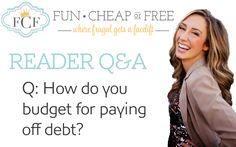 How to budget for paying of debt | FunCheapOrFree.com