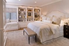Bedroom quarto, color, decorative pillows, bookcas, cushion, master bedrooms, guest rooms, modern interiors, window seats