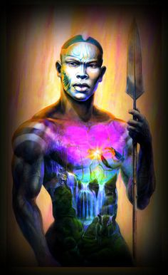 Black Art African American  African Warrior!