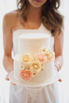 Bridal shower cake ideas-- so sweet! {Christa Elyce Photography}