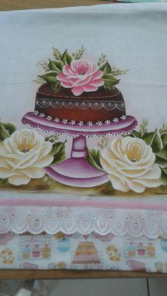 Pintura feita por Alessandra curso café e pinturas prof Marli couto
