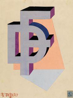 Monogramma FD, Fortunato Depero, 1926-27, courtesy MART - Museo d'Arte Moderna e Contemporanea di Trento e Rovereto / Un autore. Fortunato Depero / Dall'Autarchia all'Autonomia.