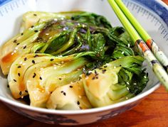Bok choy stir fry with ginger and garlic.