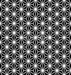 Japanese pattern black and white for filler (love the black blocs)