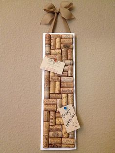 Wine cork board by AshleyColeDesigns on Etsy, $20.00