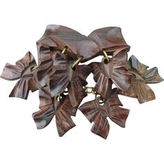 Wood Dangling Bows Pin - Wood Dangling Bows Pin