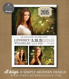 Graduation Announcement: Photograph and typography. $2.00, via ...