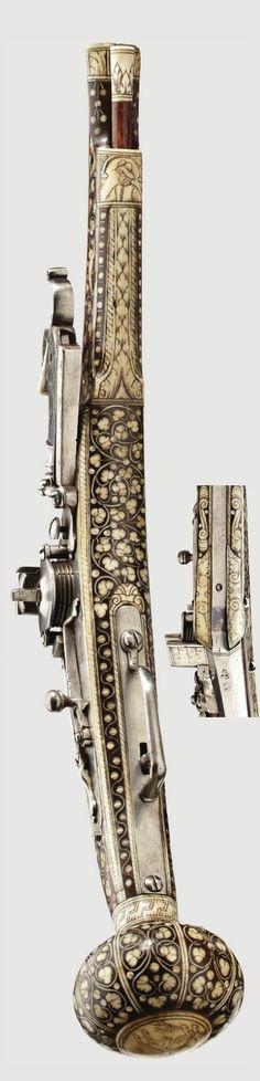 A bone-inlaid wheelock puffer, Nuremberg, ca 1570