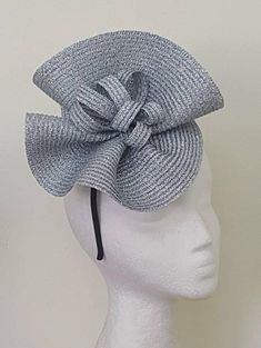 b5d5d740968 Items similar to Gray silver fascinator hats