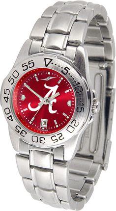 Alabama Crimson Tide Womens Sport Steel Anochrome Watch