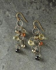 Mashka Stone and Nugget Earrings