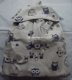 Extra Large BackPack - Loopy's Place  £28  #craftfest