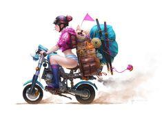 Momoko Moving, Wenjuinn Png on ArtStation at https://www.artstation.com/artwork/rv3RG