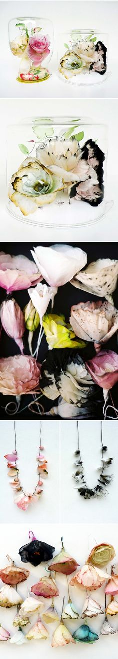lyndie dourthe - fabric flowers <3