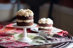 Mini Applesauce Spice Cakes with Browned Butter Cinnamon Buttercream