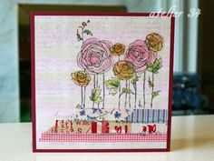Used Japanese Washi tape ans Stampendous stamps