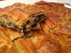 Традиционный греческий Spanakopita рецепт (шпинат пирог) с домашним Фило