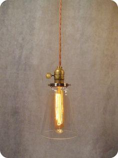 Vintage Industrial Steel Tubular Glass Pendant Light by DWVintage