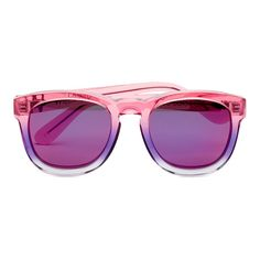Wildfox Women's Classic Fox Deluxe Sunglasses - Night Fall/Purple... ($130) ❤ liked on Polyvore featuring accessories, eyewear, sunglasses, glasses, mirrored lens sunglasses, 80s sunglasses, gradient sunglasses, fox sunglasses and gradient lens sunglasses