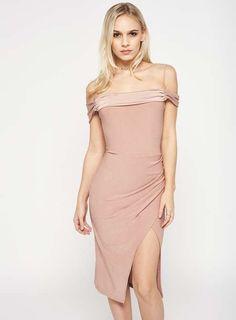 0bc37c632b7 PETITE Wrap Bardot Dress - Petite Dresses - Dress Shop