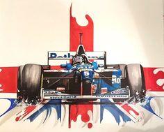 Original Art By Sean Wales Damon Hill Felt Pen Drawing Damon Hill, Classic Race Cars, Automotive Art, Sports Art, Design Art, Design Ideas, Williams F1, Art Cars, Oeuvre D'art
