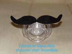 Felt Mustache Decorative Pacifier. $8.00, via Etsy.