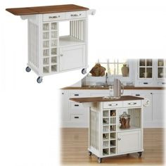 Cart-Kitchen-Storage-Island-Rolling-Wood-Cabinet-Portable-Top-Shelf-Table-Mobile