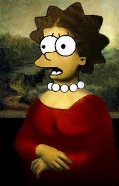 Mona Lisa - Mona Lisa Simpson, pop art.