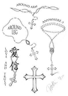 cross tattoos with beads - Google-haku
