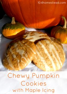 ... chewy pumpkin cookie. With maple icing, this cookie is sure to be a