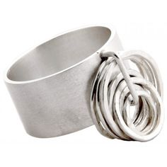 Loops Statement Silver Ring