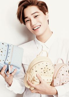Kai | MCM x EXO Collaboration Micro Site - Luxury leather goods, Handbags and Accessories #exo