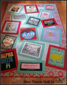 May be the cutest tee shirt quilt I've ever seen (and not just because it's ADPi!)