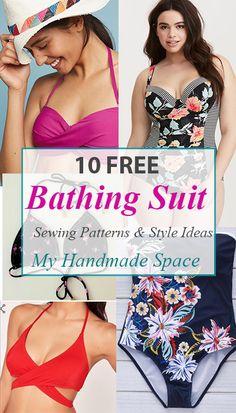10 Bathing Suit Sewing Patterns FREE - Bikini Underwear - ideas of Bikini Underwear Underwear - Bathing Suit Patterns FREE Sewing Patterns Free, Free Sewing, Clothing Patterns, Sewing Tips, Sewing Hacks, Sewing Tutorials, Sewing Basics, Sewing Blogs, Pattern Sewing