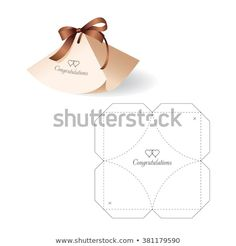 Retail Box With Blueprint Template Stock Vector Illustration 381179590 : Shutterstock Paper Gift Box, Diy Gift Box, Diy Box, Paper Gifts, Diy Paper, Gift Boxes, Paper Art, Silhouette Cameo, Paper Box Template