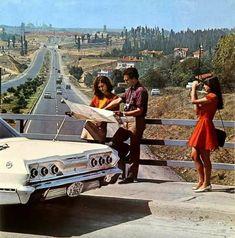 Acıbadem Köprüsü'nde bir soluklanma anı. Osman Yalçın arşivi,1967-68. #eskiistanbul
