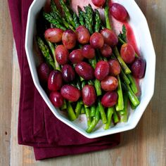 Check out this quick and easy recipe for Sautéed Asparagus and Grapes made with Grapes from California by Healthy Aperture's @Regan Jones, RD.