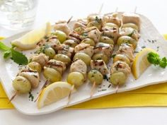 Spiced Chicken and Grape Skewers from CookingChannelTV.com