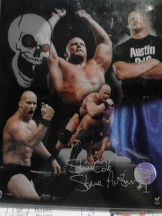 Free: Wwf Stone Cold Picture - Other Sporting Goods Black Wrestlers, Famous Wrestlers, Wwe Wrestlers, Wrestling Superstars, Wrestling Wwe, Texas Rattlesnake, Small Black Tattoos, Cold Pictures, Vince Mcmahon