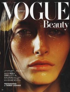 Adrien shot Vogue Japan Beauty with Thomas Lagrange
