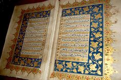 Gold and Blue Qur'an    At the Calligraphy Museum in Istanbul, Turkey