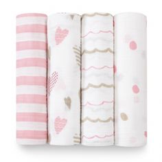 Aden + Anais Heart Breaker Swaddle - 4 pack