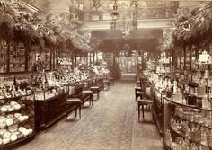 The Perfumery Salon at Harrods department store, London, England, 1903, photographer unknown.