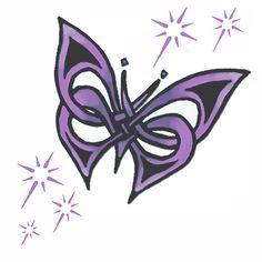 Purple butterfly tattoo w/stars by *mojo*, via Flickr